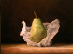Pear painting in oil
