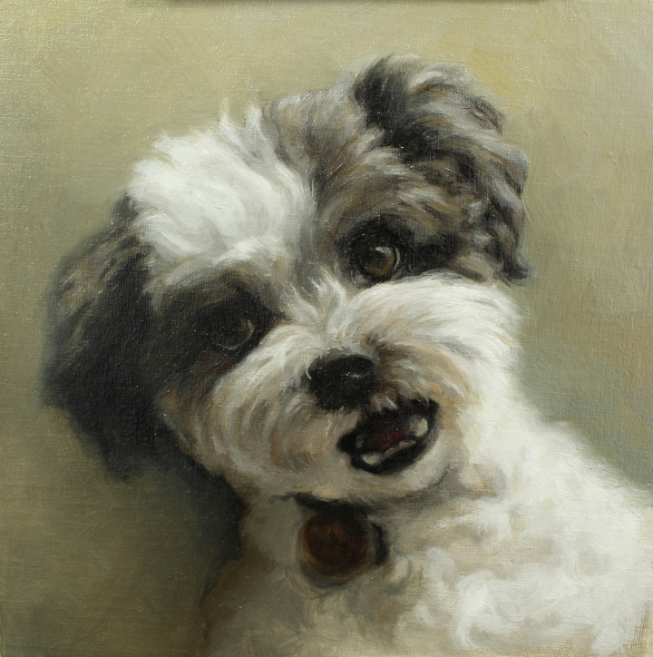 Example of dog portrait painting